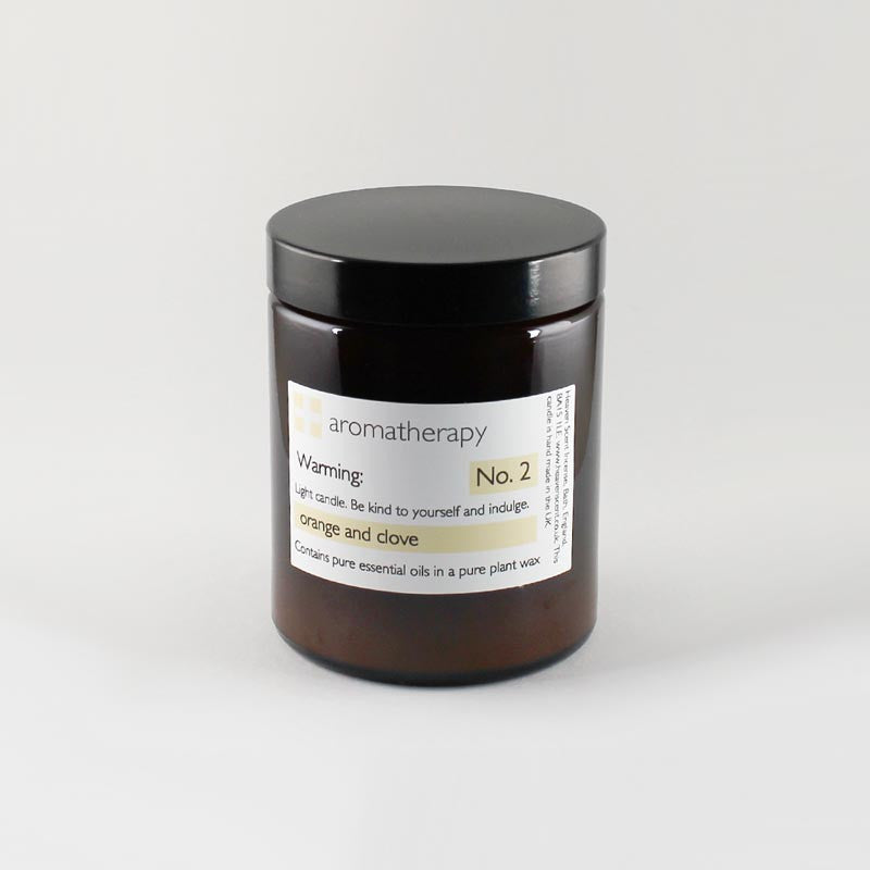 180ml Heaven Scent Orange & Clove Aromatherapy Candle