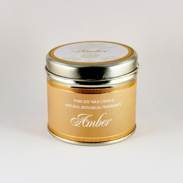 Kew Vintage Amber Scented Soy Candle Tin