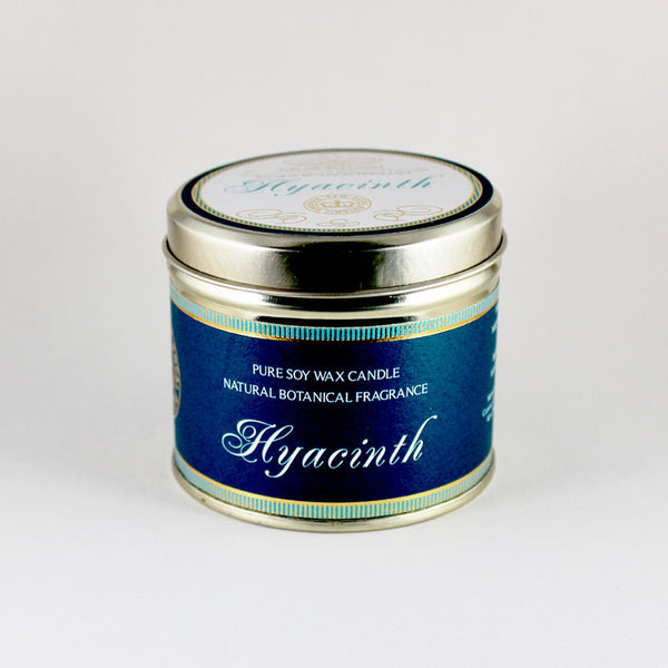 Kew Vintage Hyacinth Scented Soy Candle Tin