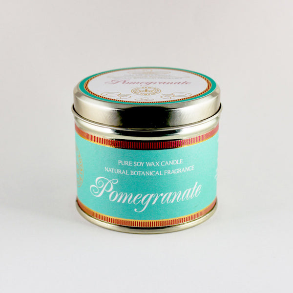Kew Vintage Pomegranate Scented Soy Candle Tin