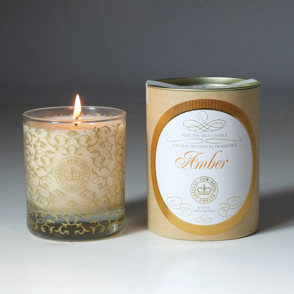 Kew Vintage Amber Scented Soy Wax Container Candle