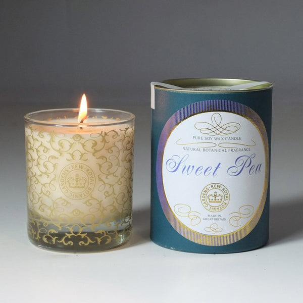 Kew Vintage Sweet Pea Scented Soy Container Candle