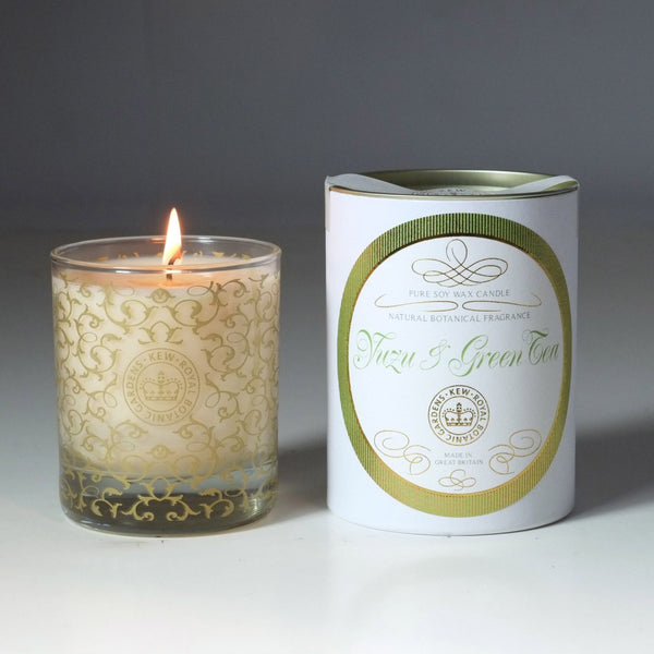 Kew Vintage Yuzu & Green Tea Scented Soy Wax Container Candle