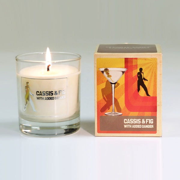 Manscandle Cassis & Fig Scented Glass Container Candle