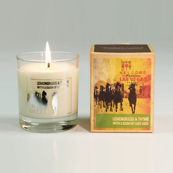 Manscandle Lemongrass & Thyme Scented Glass Container Candle