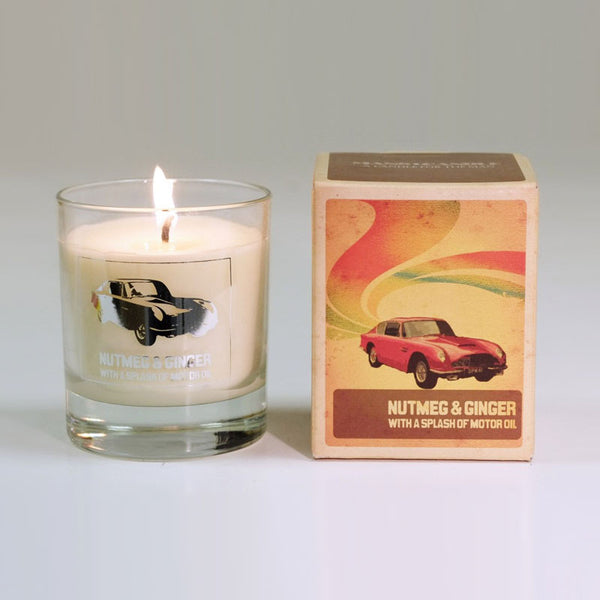 Manscandle Nutmeg & Ginger Scented Glass Container Candle