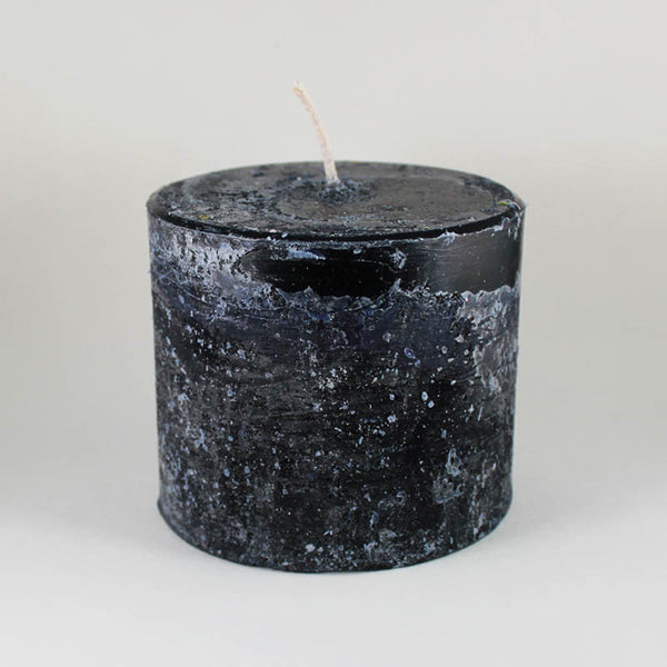 "Melt ""Short & Fat"" Noir Pillar Candle"