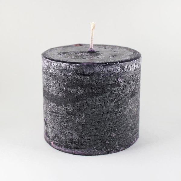 "Melt ""Short & Fat"" Violet & Black Pepper Pillar Candle"