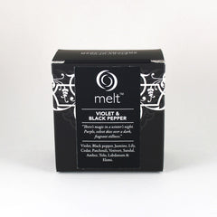 Melt Violet & Black Pepper Tin Candle Packaging