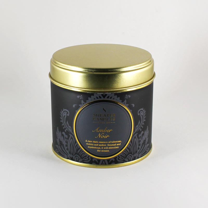 Shearer Amber Noir Candle Tin