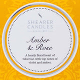 Shearer Amber & Rose Candles