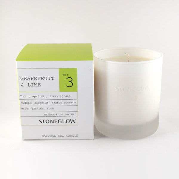 Stoneglow No.3 Grapefruit & Lime Scented Container Candle