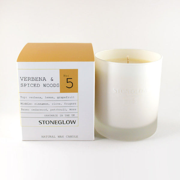 Stoneglow No.5 Verbena & Spiced Woods Scented Container Candle