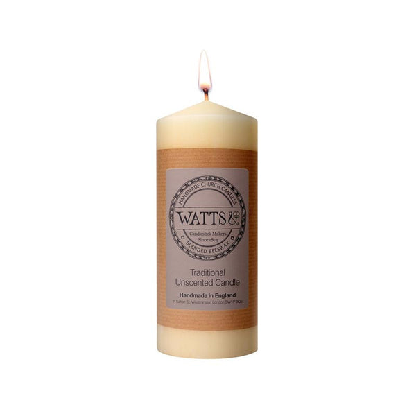 "Watts & Co 2.5"" x 6"" Beeswax Church Candle"