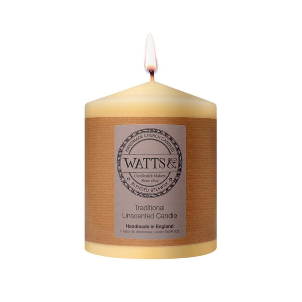 "Watts & Co 4"" x 5"" Beeswax Church Candle"
