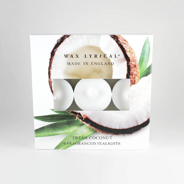 Wax Lyrical Fresh Coconut Scented Tealights