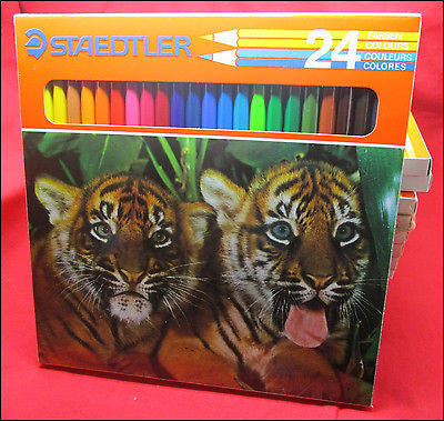 Staedtler Coloured Pencils Tigers Set of 13 Boxes with 24 Pencils each, New Old Stock (Ref.#6774)