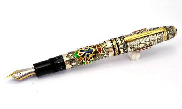 "Ariel Kullock Customized ""INCA"" Overlay on Mont Blanc 149 Fountain Pen"