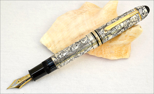 "Ariel Kullock Customized ""DAUMIER"" Overlay on Mont Blanc 149 Fountain Pen"