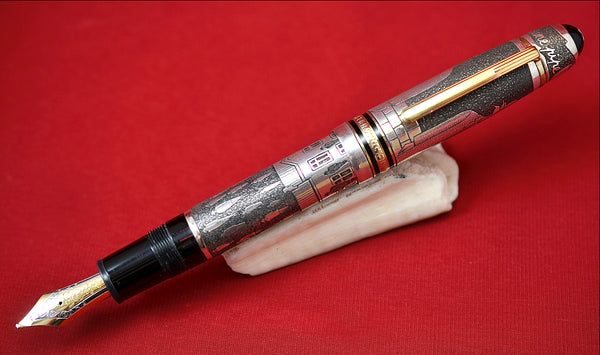 "Ariel Kullock Customized ""MAGRITTE"" Overlay on Mont Blanc 149 Fountain Pen"