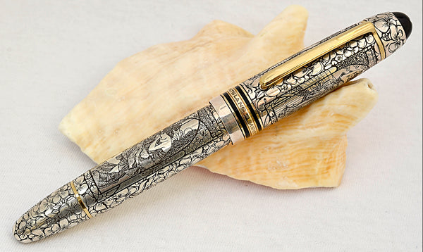 "Ariel Kullock Customized ""Alfons MUCHA"" Overlay on Mont Blanc 149 Fountain Pen"