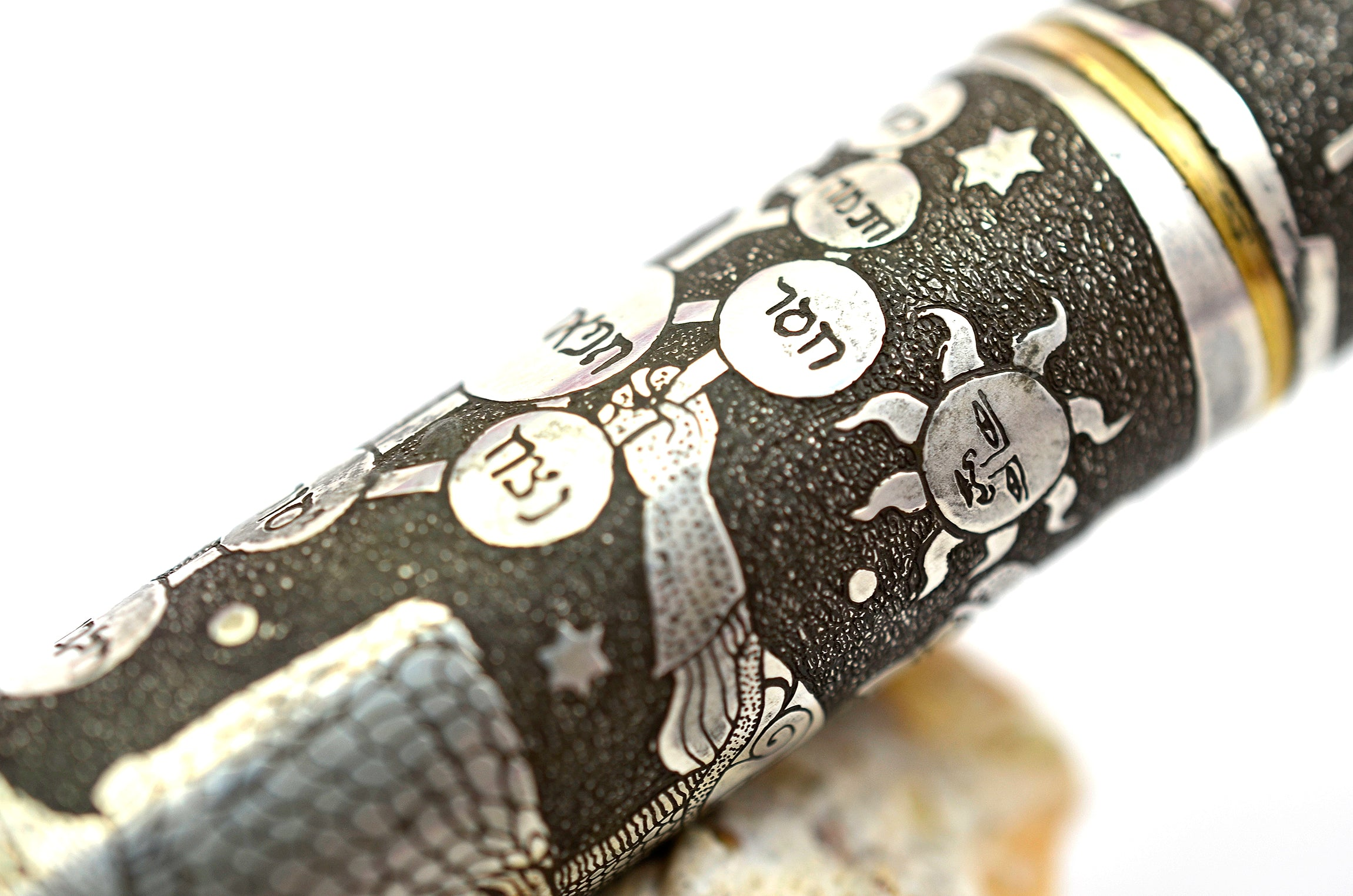 "Ariel Kullock Customized Silver ""Kabala"" 139 Style Overlay on Mont Blanc 149 Fountain Pen"