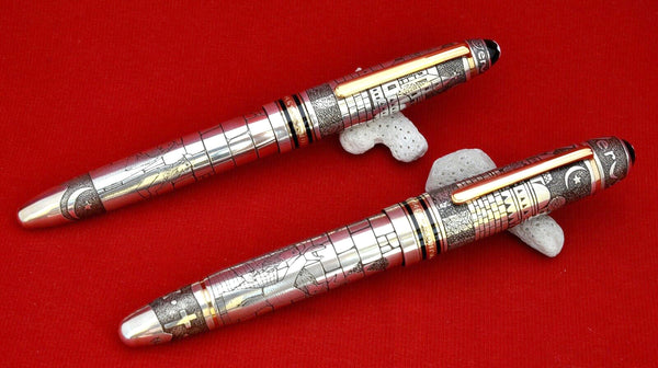 Ariel Kullock Customized Jerusalem Overlay on Set of Mont Blanc 149 FP and RB