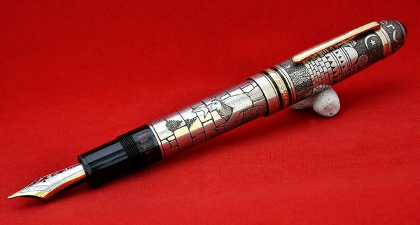 Ariel Kullock Customized Jerusalem Overlay on Mont Blanc 149 Fountain Pen