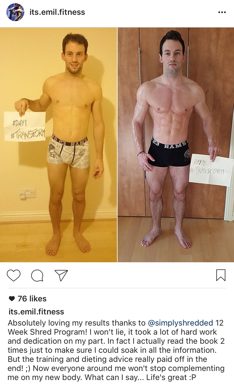 Featured Transformation: Emil Lazzaroni