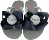 Mother of the Bride Flip Flops in Navy- choose from many colors