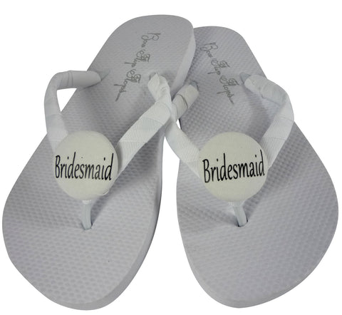 Wedding Flip Flops for the  Bridesmaid's Shoes