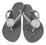 Black & White Groom's Mom Flip Flops- or choose your flip flop & size/colors
