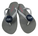 Choose your color Navy Groom's Mom Flip Flops- all sizes