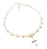 Rosary Cross Charm Bracelet for Girls