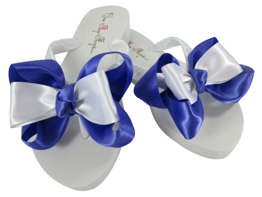 Periwinkle wedge bride flip flops