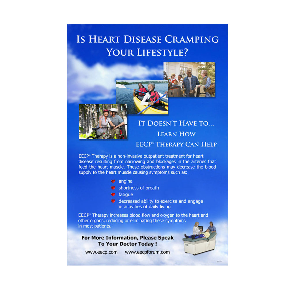 """Is Heart Disease Cramping Your Lifestyle?"" Poster"