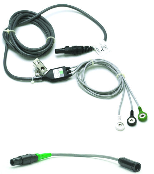 3-Lead Integrated ECG Cable w/ Adaptor for TS3