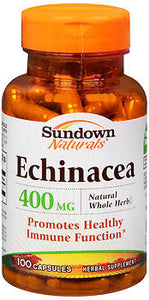 Sundown Naturals Echinacea 400 mg Capsules, 100 caps