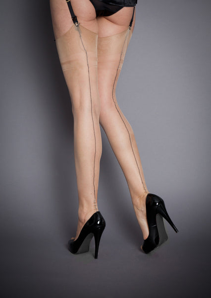 Fully Fashioned Stockings - Contrast