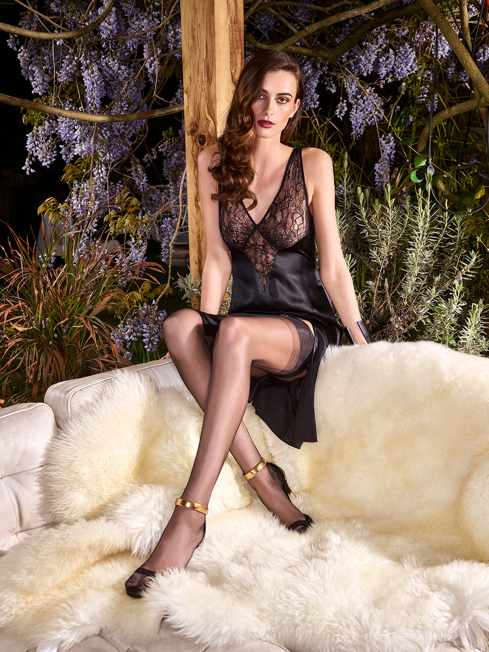 Slip Dress with Lace Bodice