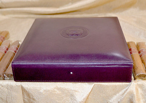 Dunhill Bulldog Cigar Travel Humidor Purple