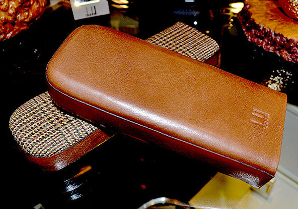 Dunhill Handmade Huntington Leather Cigar Case Red