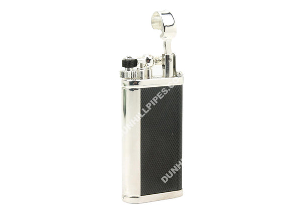 Dunhill Unique Barley/Black Silver Plate Lighter #ULY1565