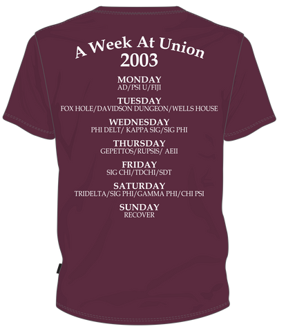 Union College Class of 2003 ReUnion Tshirt