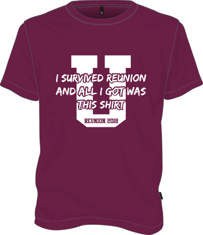 Union College I Survived ReUnion Tshirt