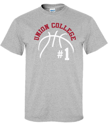 Union College Basketball Short Sleeve T-Shirt (Sport Grey)