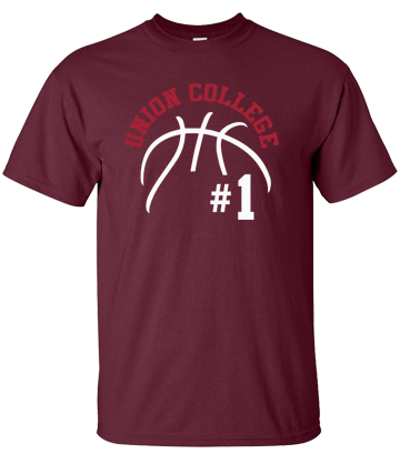 Union College Basketball Short Sleeve T-Shirt (Maroon)