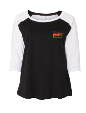 YWCA Plus Sized Baseball Tee