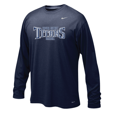 Titans Nike Team Legend Long Sleeve Crew - Downtown Custom Printwear