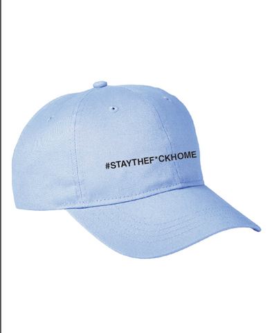#STAYHOME Censored Dad Hat (blue)